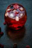 Cold Water Drink with Berries and Ice Royalty Free Stock Images