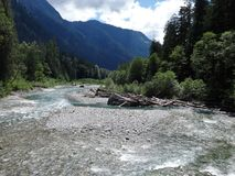 Cold Water Flowing In A Mountain River In North Cascades Stock Photos
