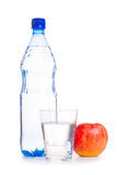 Cold water with fruit Royalty Free Stock Photography
