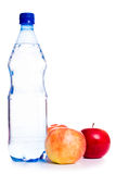 Cold water with fruits Stock Images
