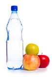 Cold water with fruits Royalty Free Stock Photography