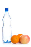 Cold water with fruits Stock Photography