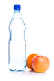 Cold water with fruits Royalty Free Stock Image