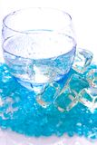 Cold water with ice Royalty Free Stock Photos