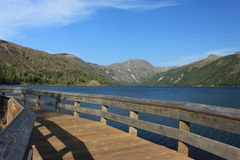 Cold water lake of Mount St. Helens Washington State. Photos taken by me on my recent visit to Mount St. Helens Volcanic region. photos taken on 09.21.2014 royalty free stock image