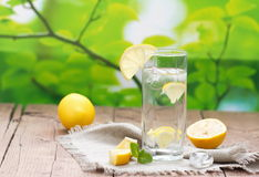Cold Water with Lemon Royalty Free Stock Images