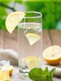 Cold Water with Lemon Stock Image