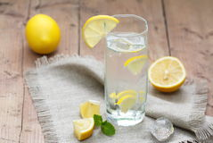 Cold Water with Lemon Stock Photography