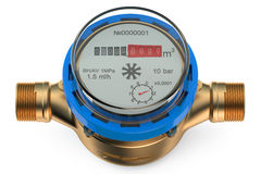 Cold water meter Royalty Free Stock Image