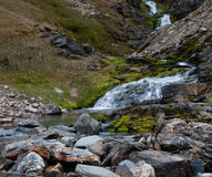 Cold water mountain stream Royalty Free Stock Photos