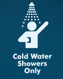 Cold Water Shower - sign Stock Images