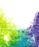 Cold watercolor colors Stock Photography