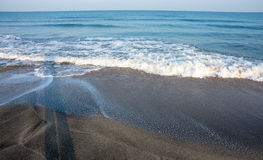Cold wave in sea, Bulgaria Royalty Free Stock Image