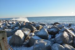 Cold waves in North Carolina Royalty Free Stock Photography