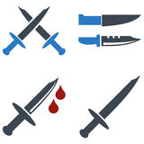 Cold Weapon Flat Icons Royalty Free Stock Images