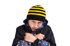 Cold weather boy Royalty Free Stock Images