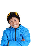 Cold weather boy Stock Image