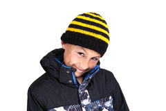 Cold weather boy Royalty Free Stock Photography