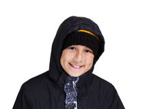 Cold weather boy Royalty Free Stock Image