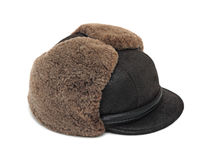 Cold-weather cap, isolated Royalty Free Stock Photography
