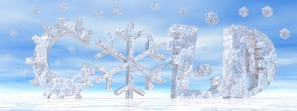 Cold weather and snow Royalty Free Stock Photography
