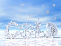 Cold weather and snow Royalty Free Stock Photo