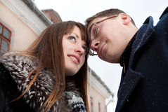 Cold weather and warm feelings Stock Image