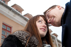 Cold weather and warm feelings Stock Photo