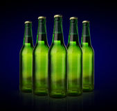 Cold wet beer bottles Royalty Free Stock Photography