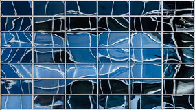 Cold Windows. 42 Blue Distorted Windows Reflection stock images