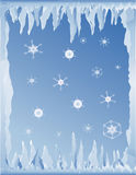 Cold winter background Stock Photography