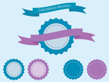 Cold winter banners Stock Image
