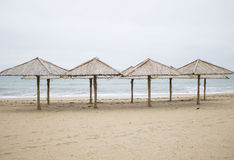 Cold in the winter beach. 2014 Royalty Free Stock Photo