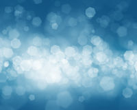 Cold winter blurred bokeh background Royalty Free Stock Photos