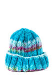 Cold winter clothing - knitted wool hat Stock Image
