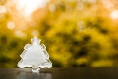 Winter is coming. Christmas tree ice decoration. Royalty Free Stock Images