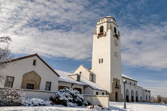 On a cold winter day the Boise Train Depot Stock Images