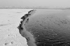 Frozen Sand Dunes Danish West Coast Stock Photos