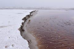 Frozen Sand Dunes Danish West Coast Stock Image