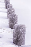 Cold winter day with many ice on the harbor on the lake Balaton Royalty Free Stock Images