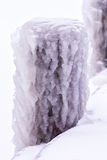 Cold winter day with many ice on the harbor on the lake Balaton Royalty Free Stock Image
