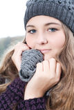 Cold winter girl Royalty Free Stock Photography