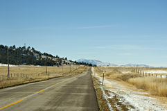 Cold winter highway. A lonesome highway on a cold winter day Stock Photography