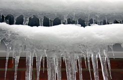 Cold winter icicles Stock Photography
