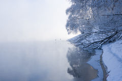 Cold winter landscape Royalty Free Stock Photo