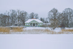 Cold winter in Latvia. 2015 stock photography