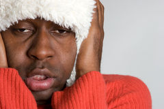 Cold Winter Man Stock Photos