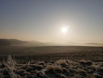 Cold winter morning royalty free stock images