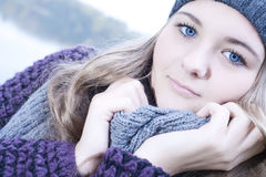Cold winter portrait Stock Image