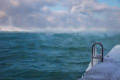 Cold winter sea. Royalty Free Stock Photos